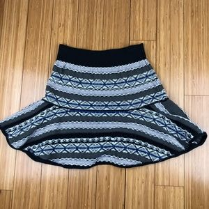 Free People Knit Sweater Boho Skater Skirt Medium